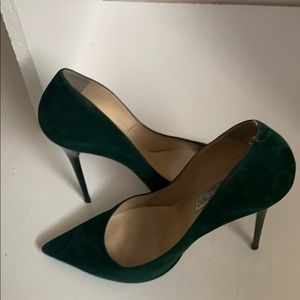 Jimmy Choo Suede Evergreen Anouk pumps